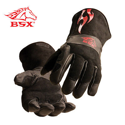 Revco Black Stallion Bs50 Premium Split Cowhide Stickmig Welding Gloves Medium
