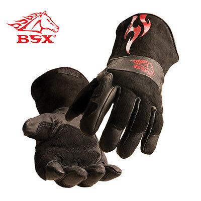 Revco Black Stallion Bs50 Premium Split Cowhide Stickmig Welding Gloves Medium