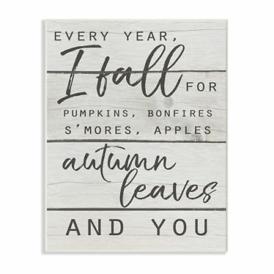 The Stupell Home Decor Collection Every Year I Fall For You Typography Wall Plaq ()