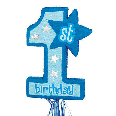 First Birthday Blue age 1 Pinata perfect for boys first birthday!  (Pinatas For Boys)
