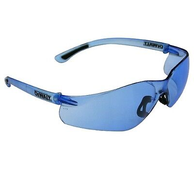 SAFETY GLASSES DEWALT CONTRACTOR PRO SAFETY GLASSES BLUE LENS DPG52-B for sale  Shipping to India