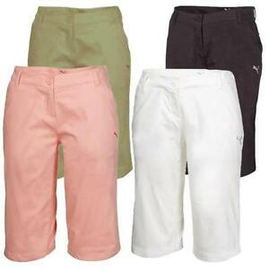 Puma Golf Womens Solid Bermuda Shorts