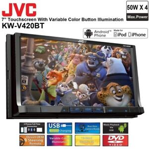 "JVC 7"" Double DIN with built in bluetooth and USB"