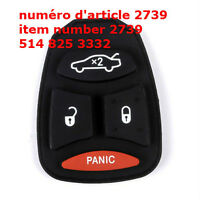 4 Button Remote Key Keyless Fob Replacement Pad Repair for Chrys