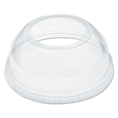 Dart DCCDLW626 Open-top Dome Lid For 16-24 Oz Plastic Cups, Clear, 1.9