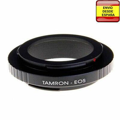 Anillo adaptador Tamron Adaptall-2 AD2 a Canon EOS confirmacion enfoque