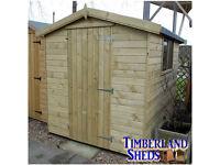 Shiplap Garden Shed, Tanalised