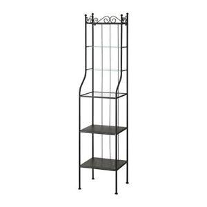 RÖNNSKÄR Shelf unit, black ronnskar bath, bed, living rooms x 2