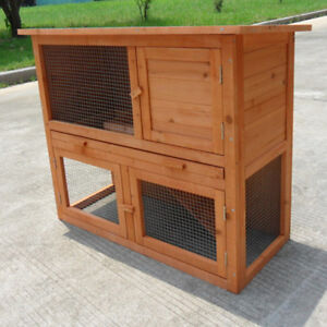 two storey rabbit ferret guinea pig cage run hutch t002t