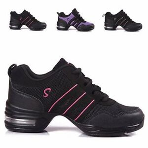 Women-Modern-Jazz-Hip-Hop-Gym-Dance-Trainers-Split-Sole-Sneakers-Athletic-Shoes