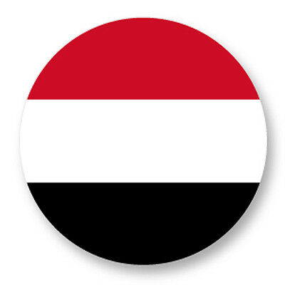 Pin Button Badge Ø38mm Drapeau Flag Echarpe Maillot Yemen YE image
