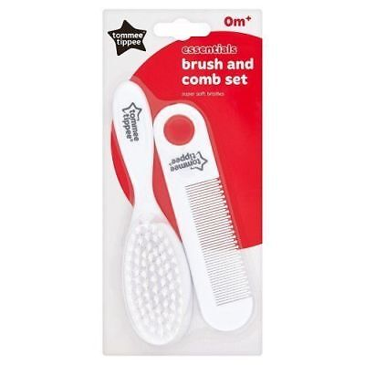Newborn Baby Infant Care Hair Brush & Comb Set Tommee Tippee 0m+