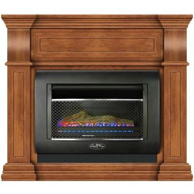 Duluth Forge Mini Hearth Ventless Gas Wall Fireplace 26,000 BTU, Toasted Almond