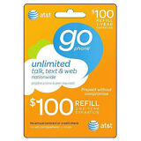 AT&T GO PHONE $100 Refill!