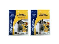 2 High Quality Compatible Cooker Hood Grease Filters with Saturation Indicator, FLT 3445