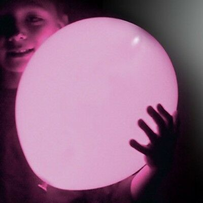 Pink Led Balloons (Pink LED illoom Balloons - pack of 5 glowing light up)