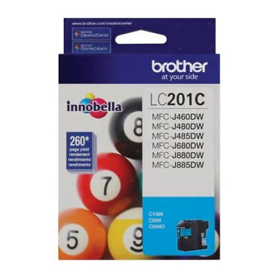 Brother LC201C Standard Yield Cyan Ink Cartridge for Brother MFC Printers