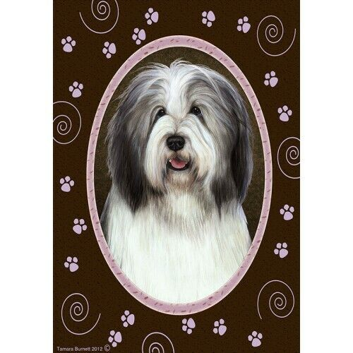 Paws House Flag - Blue and White Bearded Collie 17170