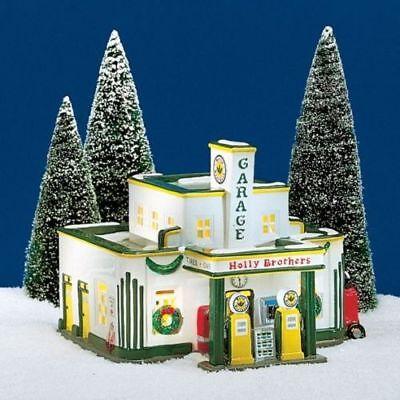 Dept 56 Snow Village   Holly Brothers Garage   Box 54854 Lnib
