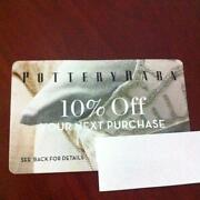 Pottery Barn 10% Coupon