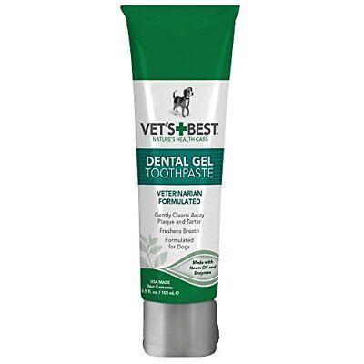Vets Best Dog Dental Care Gel Toothpaste Cleans Tartar Plaque Whiten Brightening