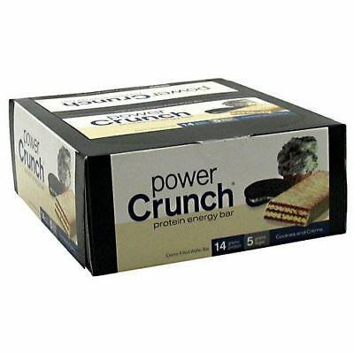 BNRG Power Crunch- Cookies and Creme - 12 Cookies -1.4 oz each Cookie