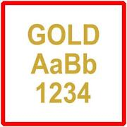 Gold Self Adhesive Letters