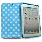Silicone gel hoes map blauw wit stippen polka ipad mini 1...