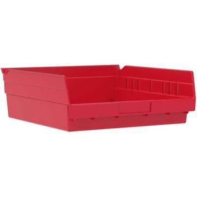 Akro Mills Red Plastic Shelf Bins Qty 5 Bins 18x11x4 Part 30-178