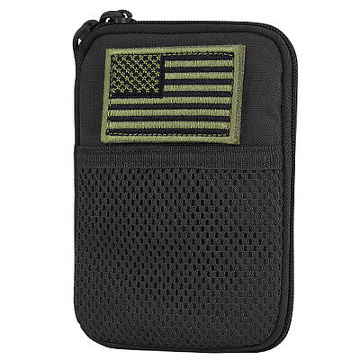 Condor MA16 BLACK MOLLE Passport ID Wallet Phone Pocket Pouch w/ USA Flag