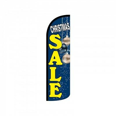 Christmas Sale Swooper Flag Only Windless 3 Wide Sign Banner Blue