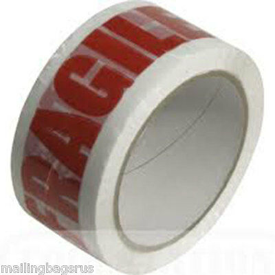 6 Rolls Fragile Printed Parcel Packing Tape
