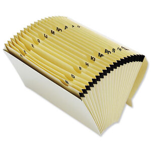 EXPANDING-CONCERTINA-BOX-FAN-FILE-A-Z-19-POCKETS-A4-FOOLSCAP-A-330569