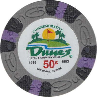 Dunes Clay Poker Chip (Poker Chip (1) 50¢ Dunes Commemorative 9 gram Clay Composite FREE)