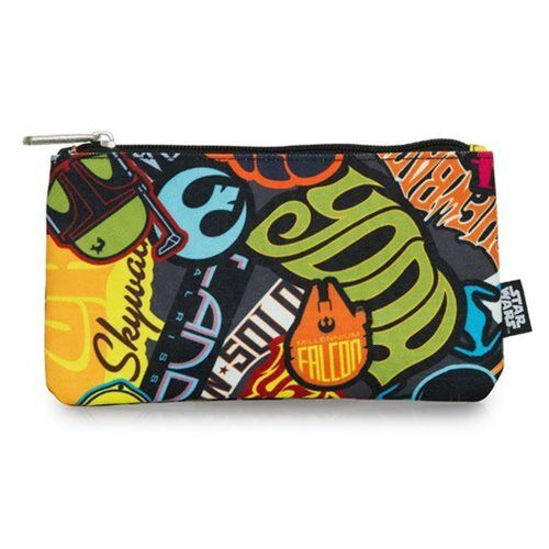 Loungefly Star Wars Zip Pouch Stickers Print, Pencil/Cosmetic/Coin Bag Disney