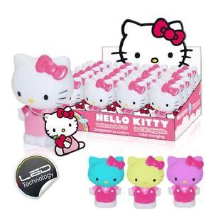 HELLO KITTY MINI LED NIGHT LIGHT BODY 10 cm COLOUR CHANGING KIDS GIRLS BABY TOY