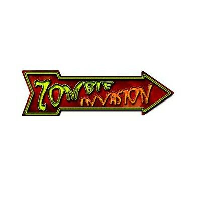 Zombie Invasion Novelty Metal Arrow Indoor Or Outdoor Sign 5 By 17 - Zombie Sign