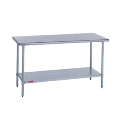Duke 418-2460 Kitchen Work Table 60wx24dx36h Stainless Steel Flat Top