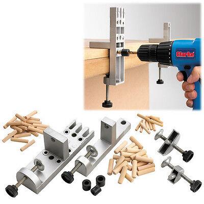 Clarke CDJ2 Dowelling aluminium Jig Set pre aligned holes, clamps, depth stops