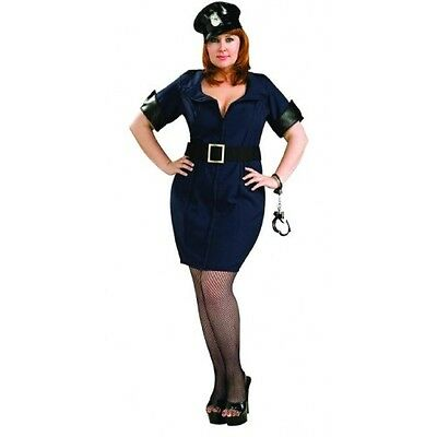 Officer Law Police Cop Woman Dress Up Halloween Sexy Plus Size Adult - Plus Size Police Woman Halloween Costume