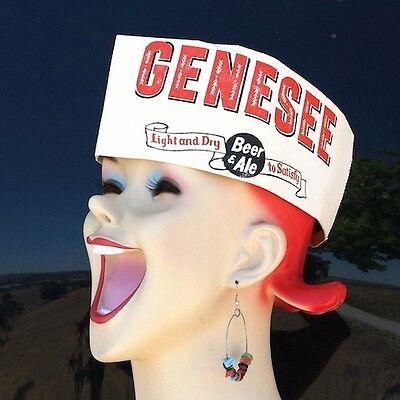Vintage Original GENESEE BEER PUB BARTENDERS Paper Jerk Hat 1940s Unused Stock