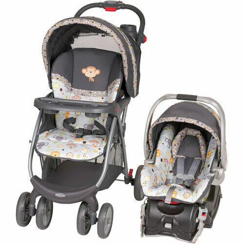 Baby Stroller/ Infant Car Seat Travel System Combo Set Rear Facing Handy New