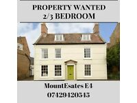 looking for 3 bedroom house in Chingford area