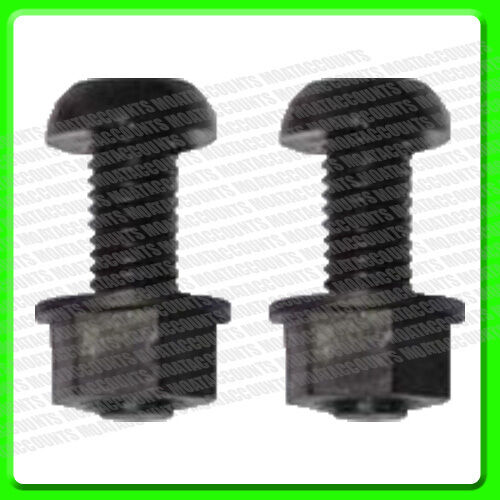 A Pair of Black Plastic Number Plate Nut & Bolt [PWN627]