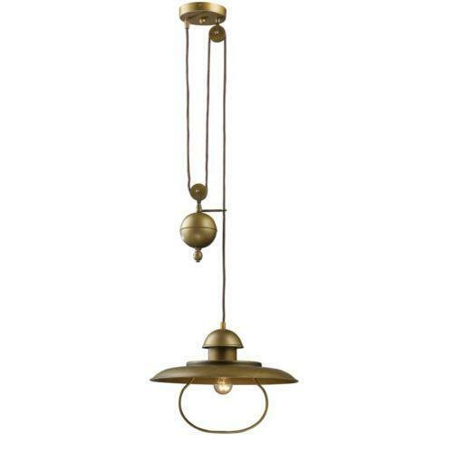 Pulley pendant lamps lighting ceiling fans ebay - Ceiling fan with pulley system ...