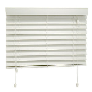 Various Faux Wood Blinds - White