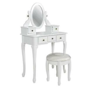 White Vanity Desks