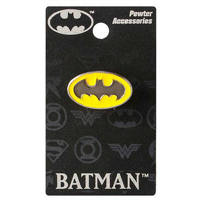 "BATMAN ""COLORED LOGO"" Pewter Lapel pin DC Comics NEW in PACKAGE"