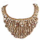 Mother of Pearl Bib Handcrafted Necklaces & Pendants