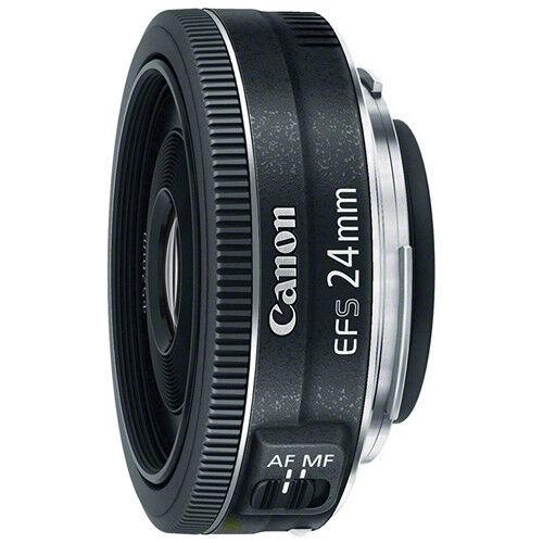 Canon EF-S 24mm f/2.8 STM Pancake DSLR Camera Lens BLACK